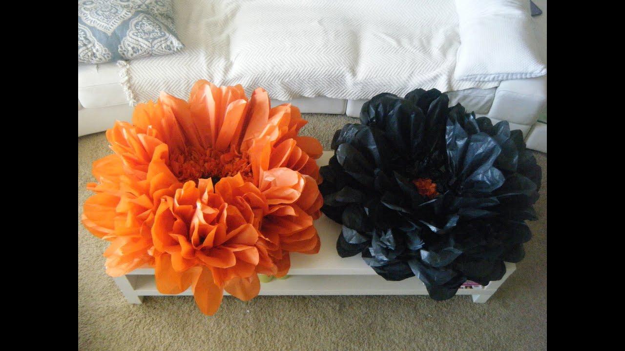 Diy Giant Best Flower Tissue Decoration Youtube
