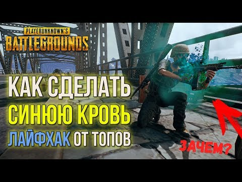 КАК СДЕЛАТЬ СИНЮЮ КРОВЬ в PUBG!? Секреты и баги PLAYERUNKNOWN'S BATTLEGROUNDS