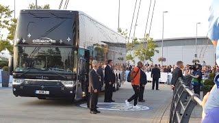 Man City Team Arrive For Borussia Monchengladbach Match