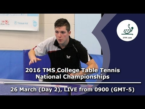 2016 TMS College Table Tennis National Championships - Day 2, Table 1
