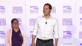 Julian Castro at the Unions for All Summit