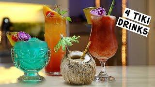 Four Tiki Drinks