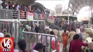 Devotees Throng To Vemulawada Rajanna Temple On Eve Of Shravana Somavaram