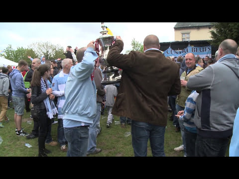 CITY FANS AT THE GREEN MAN: City v Wigan FA Cup Final