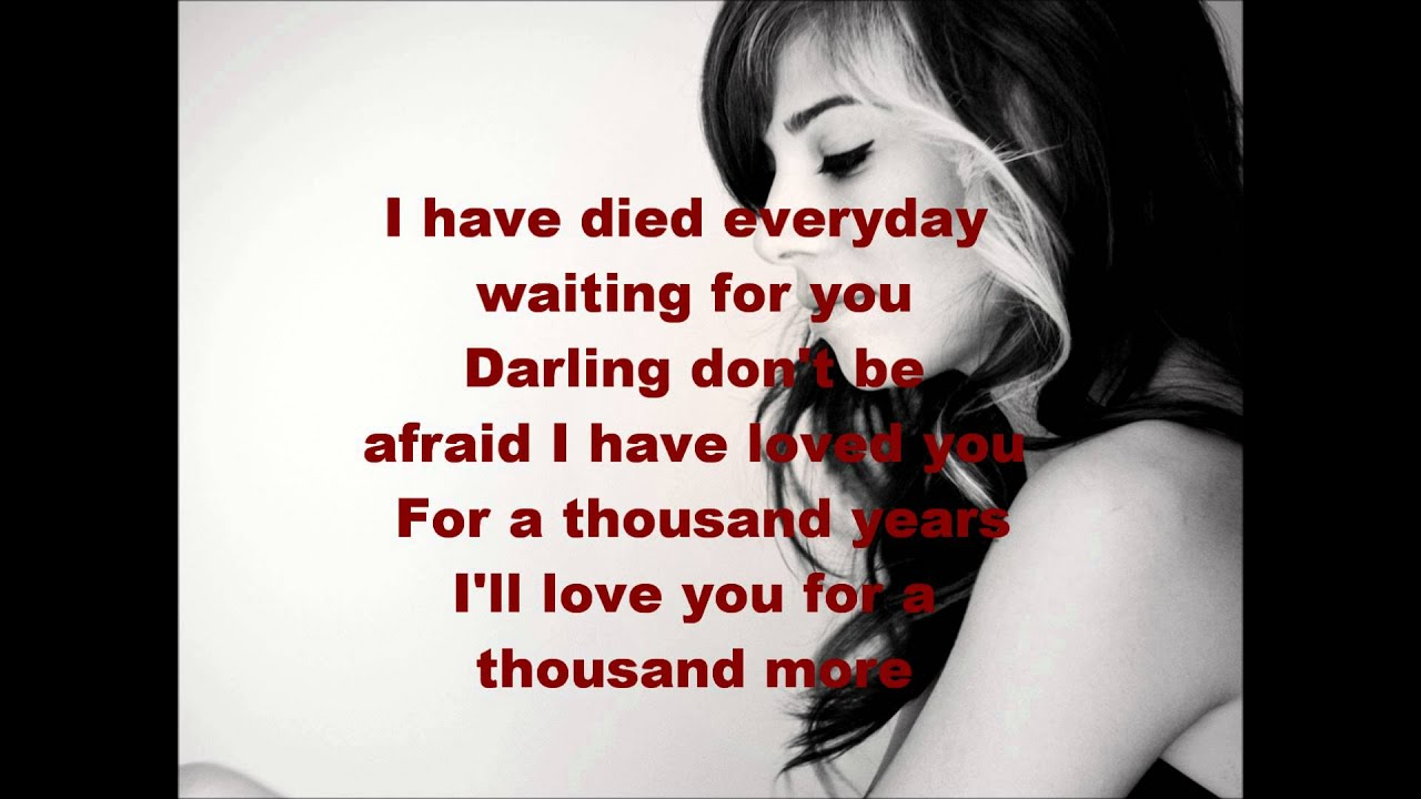A Thousand Years Lyrics ~ Christina Perri - YouTube