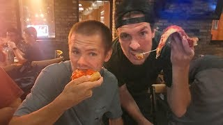Pizza with Geoff Rowley!! (PRO SKATER)