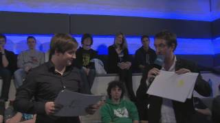 Krepo judges the Krepo drawing contest :) Multiple shots fired! | IEM Cologne 2013