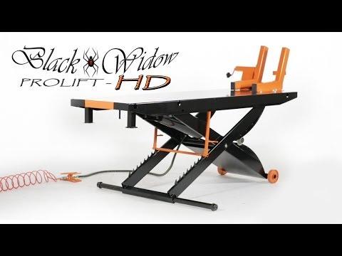 Black Widow Prolift Heavy Duty Motorcycle Lift Table