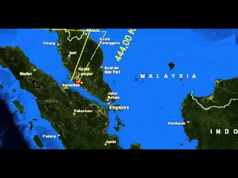 Malaysia Airlines, this video shows an intuition a target of 777 aircraft, a possible location.