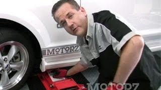 How to Install Brake Pads Rotors Ford Mustang Motorz #24