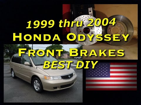 Honda Odyssey 99 - 04 Front Brake Pads and Rotor Replacement - Bundys Garage