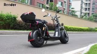 Citycoco electric scooter with off road tires