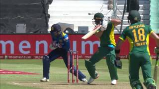 South Africa vs Sri Lanka - 2nd ODI - SA Innings Highlights