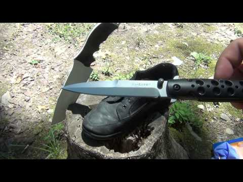 Cold Steel Knife Test  At Home...is It Real? video