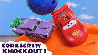 Cars McQueen with Hot Wheels NEW Hulk Car Corkscrew Knockout and the funny Funlings TT4U