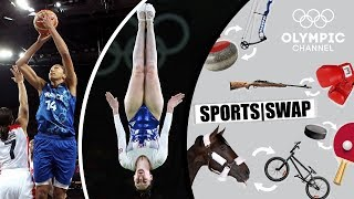 Basketball vs Trampoline Gymnastics - Can They Switch Sports?  | Sports Swap Challenge