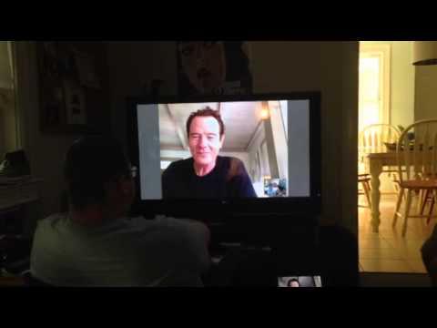 #breakingbrad meets Skypes Brian Cranston
