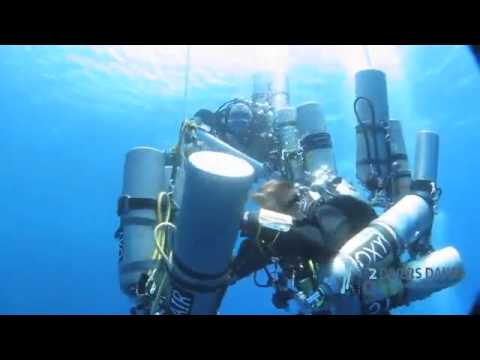 Training dive before 332,5 meters dive- the new world record. Dahab, South Sinai, Egypt