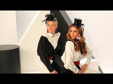Sofia Vergara and Ellen's CoverGirl Commercial: Das Bombshell