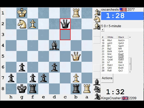 Queen's pawn: London system (A45) : LIVE Blitz Chess #1432 vs oscarchests (2077) (Chessworld.net)