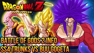 Dragon Ball Z: Battle of Gods - DragonBall Z: Battle of Gods 2 - SS4 Trunks VS Super Buu Gogeta Absorbed! (DBZ Budokai 3 Mods)