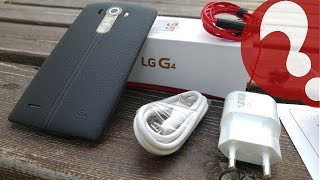 Lg G4 - Unboxing (EU version) - Black leather