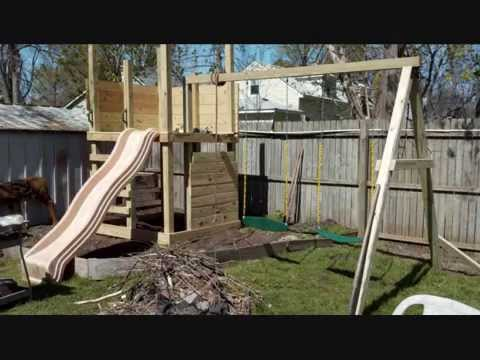 Building The Kids A Home Made Play Structure Youtube
