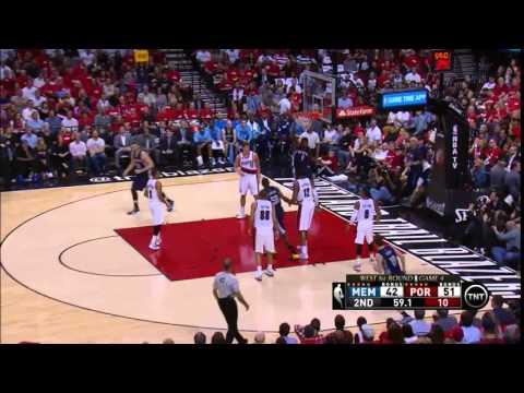 NBA, playoff 2015, Trail Blazers vs. Grizzlies, Round 1, Game 4, Move 23, Marc Gasol, assist