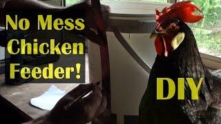 DIY Chicken Feeder Bin NO MESS Bulk Cheap & Easy to Do!