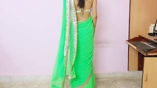 Download How To Wear Backless Sari Blouse-How To Wrap Backless Saree Blouse/Saree draping Tutorial 3Gp Mp4