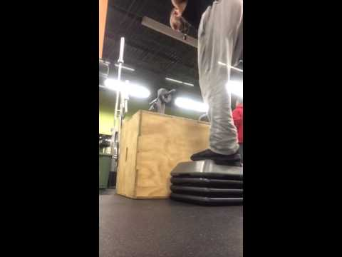 Above knee amputee box jump
