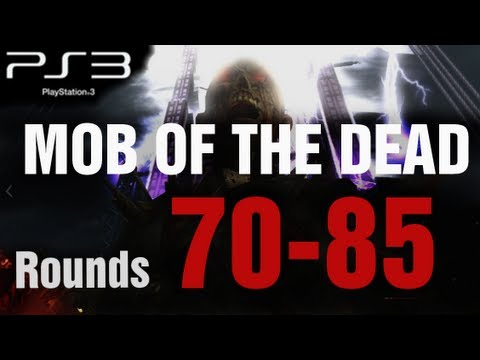 Mob of the Dead PS3 Rounds 70-85 Solo Strategy Gameplay LIVE - Black Ops 2 Zombies by TheRelaxingEnd