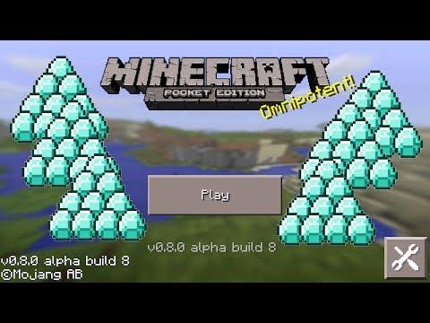Minecraft Pocket Edition - Unlimited Diamonds Glitch 0.8.0 iPod/iPad/iPhone/Android