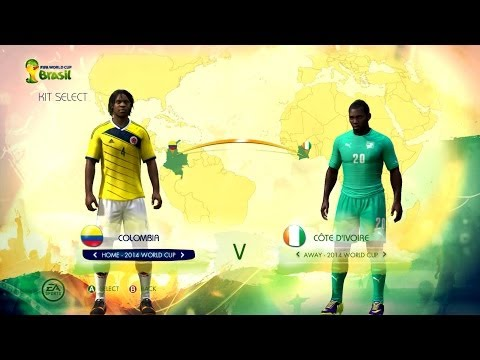 Colombia v Ivory Coast: World Cup simulator