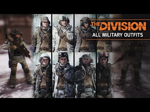The Division - All Military & Marine Forces OUTFIT Packs DLCs (Army Camo Skins)