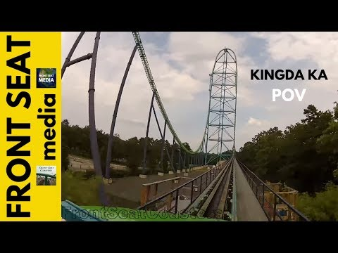 Six Flags Kingda Ka POV Great Adventure Roller Coaster Front Seat On Ride Intamin GoPro HD Video