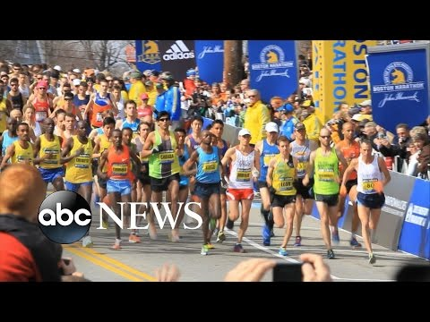 The 2016 Boston Marathon Takes Place Under Heavy Security