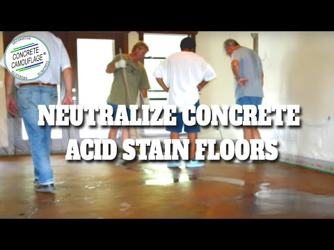 Concrete Staining Guide 5 How To Neutralize Concrete