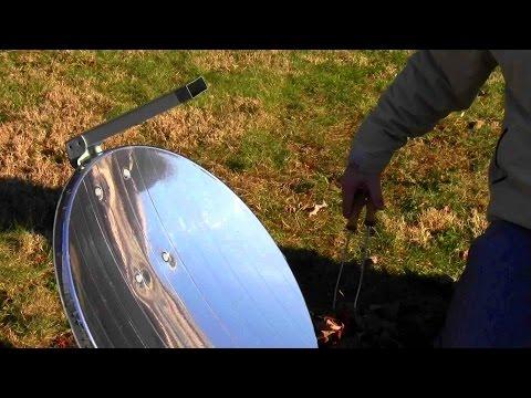 Parabolic Solar Cooker Test