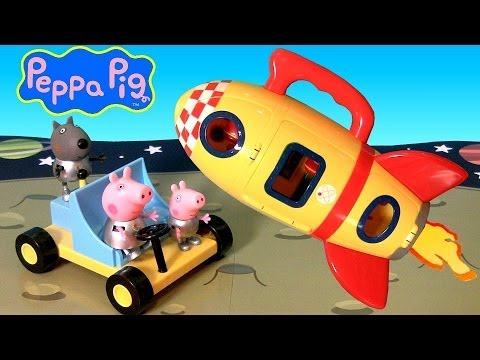Peppa Pig Spaceship Explorer Playset With Moon Buggy Car Play Doh Moon Dough by Nickelodeon