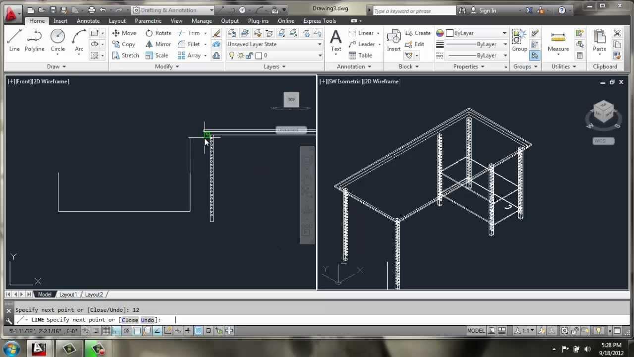 AutoCAD 2013 3D Modeling Basics Desk Brooke Godfrey