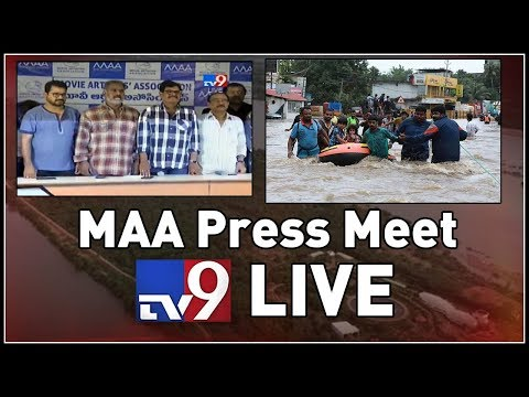 MAA Press Meet LIVE || Kerala Floods || Hyderabad - TV9