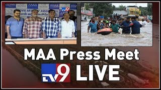 MAA Press Meet LIVE || Kerala Floods || Hyderabad