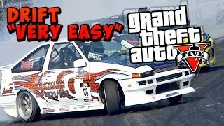 "GTA 5 Online : How To ""DRIFT"" In GTA 5 *TUTORIAL* Easy! (GTA 5 Online Drifing)"