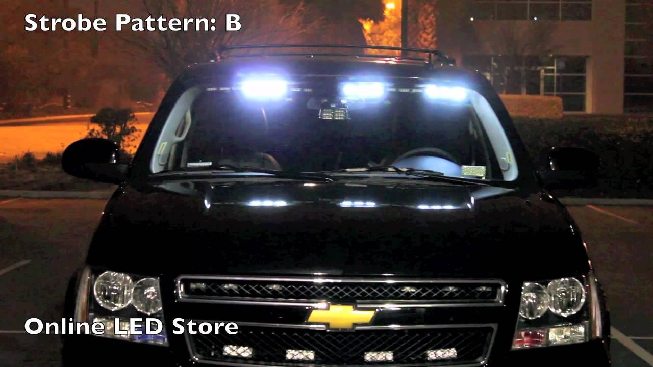 54 Led Front Headliner Emergency Strobe Pov Lights Amber