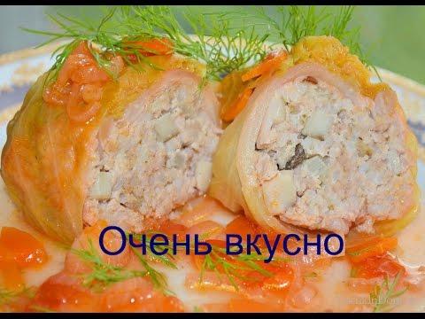 Голубцы с мясом Голубцы домашние вкусные Видео рецепт.Котлеты.