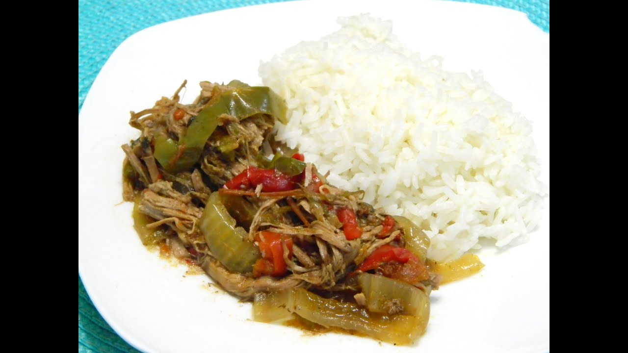 Slow Cooker Cuban Ropa Vieja or Cuban shredded Beef - YouTube