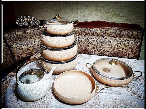 набор посуды для МАМУЛИ - кастрюли, чайник, сковорода и сотейник -производство ТУРЦИЯ