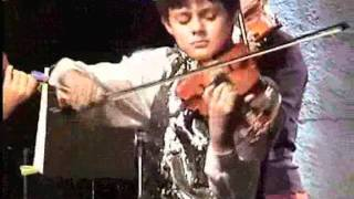 Aleem Knadour (7 years) playing Bach with The European Chamber Orchestra.flv