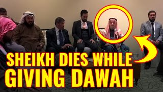 Sheikh Dies While Giving Dawah After Reciting The Shahadah – Beautiful Ending